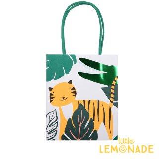 【Meri Meri】 ワイルド ジャングル ペーパーバッグ 紙袋 1枚入り トラ ワニ パーティー ギフトバッグ バースデイ プレゼント袋 ジャングル(45-3320/169633)