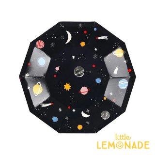 【Meri Meri】 スペース スモール ペーパープレート 紙皿 8枚入り 宇宙 コスモ 惑星 パーティー ホームパーティー (169813)
