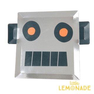 【Meri Meri】 ロボット ダイカット ペーパープレート 紙皿 8枚入り 宇宙 テクノロジー ホームパーティー 誕生日 バースデイ テーブルウェア(45-3255/168238)