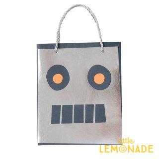 【Meri Meri】 ロボット ペーパーバッグ 紙袋 1枚入り  パーティー ギフトバッグ バースデイ プレゼント袋 宇宙 テクノロジー トリートバッグ(45-3381/170155)
