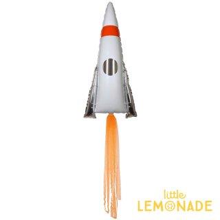 【Meri Meri メリメリ】 スペースロケット フィルムバルーン 風船 1枚入り 【ぺしゃんこでお届け】 宇宙 タッセル付き スペースシャトル パーティー(45-3362/169984)