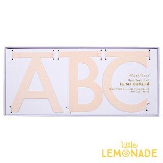 【Meri Meri メリメリ】自分で好きな文字が作れる DIY式 アルファベット レターバナー ピンクグリッター ガーランド バナー ナンバー パーティー 装飾(45-3375/170101)