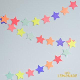 【Meri Meri メリメリ】マルチカラー カラフルグリッタースターガーランド ペーパーバナー 星 パーティー 装飾 飾り付け 飾り バースデイ バースデー(45-3410/170416)