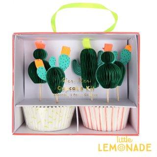 【Meri Meri】 サボテン カップケーキキット カクタスのピックとベーキングカップのセット 誕生日 お祝い テーブルコーディネート ボタニカル 製菓(45-3352/169894)