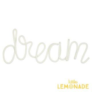 【Meri Meri】 ウールモレター DREAM オブジェ クリーム色 インテリア 装飾 デコレーション お祝い ワイヤーモビール 子ども部屋(30-0236/173413) ◆SALE