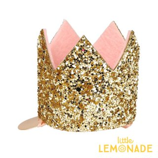 【Meri Meri メリメリ】ヘアクリップ ゴールドグリッタークラウン ヘアピン ヘアアクセサリー キッズ プリンセス 女の子 プレゼント(50-0298/171865)