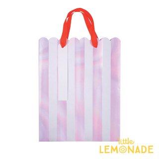 【Meri Meri】 イリディセント ストライプ ペーパーバッグ3枚セット 紙袋 パーティー ギフトバッグ バースデイ プレゼント袋(44-0164/163999)