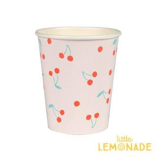 【Meri Meri】チェリー柄 ペーパーカップ 8枚入り 紙カップ 紙コップ ホームパーティー 使い捨てカップ さくらんぼ フルーツ柄(45-3232/168040)