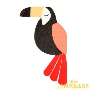 【Meri Meri】オオハシ ダイカット ペーパーナプキン Toucan 紙ナプキン 20枚入り インコ 鳥  パーティー ホームパーティー 誕生日(45-3279/168454)
