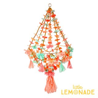 【Meri Meri】 フラワーシャンデリア Large Pajaki Chandelier お花とタッセルがついた吊るし飾り(30-0225/173314) ◆SALE