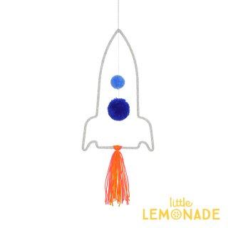 【Meri Meri】 ウールモビール ロケット ハンギングデコレーション スペースシャトル オーナメント インテリア(30-0237/173422)