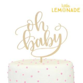 SALE◆【Alexis Mattox Design】 Oh Baby ゴールド ケーキトッパー ベビーシャワー お祝い 飾りつけ (PCT34)