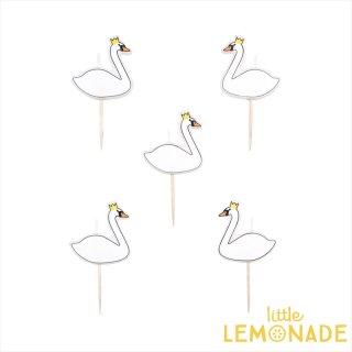 【my little day マイリトルデイ】 スワン キャンドル 5本入り 【白鳥 swan candle ホームパーティー パーティー 誕生日】(MLD-BOUCYGNE)