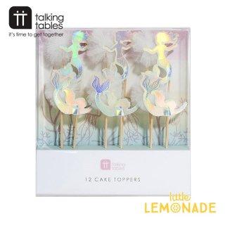 【Talking Tables】イリディセントマーメイド&ホワイトチュールピックセット(MERMAID-TOPPERS) トーキングテーブルス