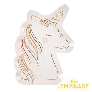 【Meri Meri】ユニコーン ペーパープレート 8枚入り unicorn (45-3498/173611)