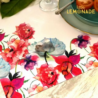 【Indigo De Papel】プレイスマット Watercolor Flowers 紙製 24枚つづり 花柄 水彩 ◆SALE