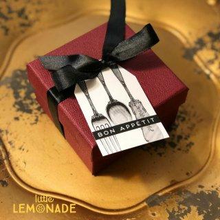 【Indigo De Papel】テーブルタグ アンティーク シルバーウェア 24 枚入り【チリ産 食卓 紙製 ナプキンホルダー フォーク ナイフ】