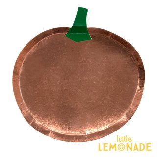 【Meri Meri】ハロウィン パンプキン ダイカット ペーパープレート 8枚入り かぼちゃ 紙皿(45-3744/179227)