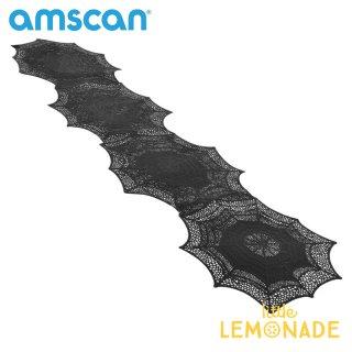 【amscan】クモの巣のテーブルランナー プラスチック製 スパイダーウェブ 【HALLOWEEN ハロウィン ハロウィンパーティー テーブルウェア 装飾 飾り付け】(570075)