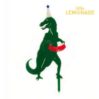 【Eleanor Moss】グリーン ティラノサウルスのケーキトッパー 【可愛い T-Rex Green 緑  恐竜 アニマル】(TREX-001)