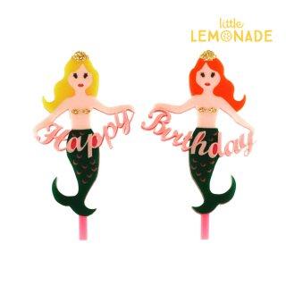 【Eleanor Moss】マーメイド ハッピーバースデー ケーキトッパー【可愛い Mermaids 人魚】(MERS-001)