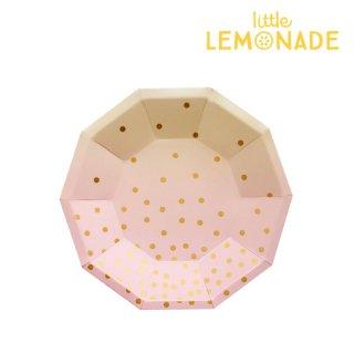 【illume partyware】ピンク&ピーチ デザート ペーパープレート【中 直径18.5cm】10枚入り(ID-DPLATE-040)