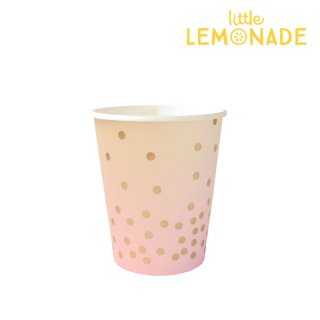 【illume partyware】ピンク&ピーチ ペーパーカップ【300ml】10個入り(ID-CUP-040)