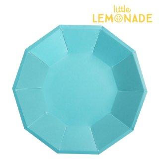 【illume partyware】ブルー フォイル ペーパープレート【大 直径23cm】10枚入り(ID-LPLATE-039)