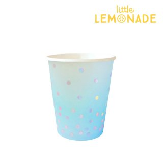 【illume partyware】ブルーイリディセント ペーパーカップ【300ml】10個入り(ID-CUP-039)