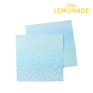 【illume partyware】ブルー イリディセント ペーパーカクテルナプキン【3枚1組】20枚入り(ID-NAPK-039)