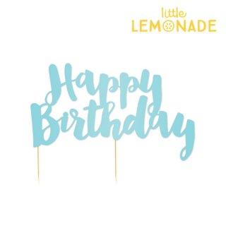 【illume partyware】ブルー フォイル Happy Birthday ケーキトッパー(ID-HBBCTOP-039)