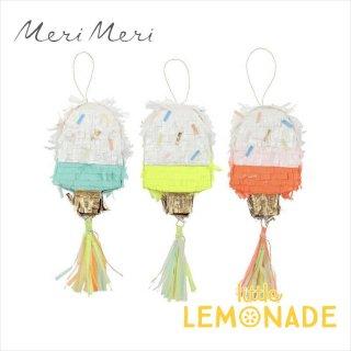 【Meri Meri】 アイスクリームのピニャータ 3個セット ミニサイズ(コンフェッティとタトゥーシールのセット) (45-3223/167959)