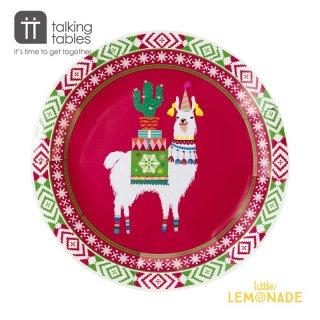 【Talking Tables】フェスティブプレート/ボヘミアンクリスマス(ラマ)(FIESTIVE-PLATE) トーキングテーブルス