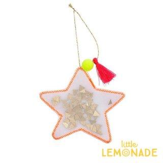 【Meri Meri 2018】クリスマス オーナメント オーガンジー素材のお星様【Star】【ツリー 飾り デコレーション クリスマスツリーchristmas 】(50-0408/179614)