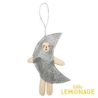 【Meri Meri 2018】クリスマス オーナメント シルバーのお月様【Moon silver】【ツリー 飾り クリスマスツリーchristmas 】(50-0402/179560)