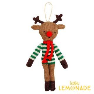 【Meri Meri 2018】クリスマス オーナメント  しましまニットのトナカイ【Reindeer】【ツリー 飾り クリスマスツリーchristmas 】(60-0060/163828)