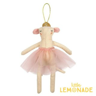 【Meri Meri 2018】クリスマス オーナメント ねずみ ピンク バレリーナ【Mouse Ballerina】【ツリー 飾り クリスマスツリー】(60-0089/179830)