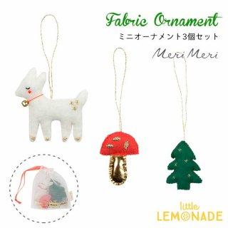 【Meri Meri 2018】クリスマス ミニオーナメント 小鹿 もみの木 キノコの3個セット【Woodland】【ツリー 飾り クリスマスツリー】(60-0094/179875)