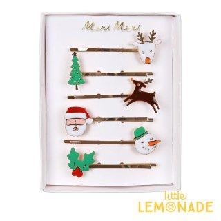 【Meri Meri メリメリ】クリスマスアイコンのヘアピン6本セット (50-0421 / 179722)