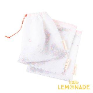 【Meri Meri メリメリ】ラッピングバッグ 3個入り【Sequin Star Shaker Bag】 お星さまのスパンコールが入った布袋 巾着 (45-3781 / 179443)