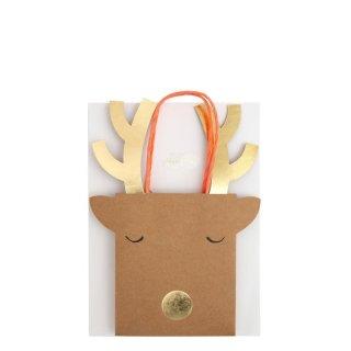 【Meri Meri】トナカイ ペーパーバッグ スモールサイズ 2枚入り 【Small Reindeer Bag】(44-0181/178894)