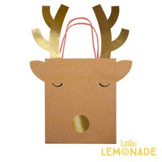 【Meri Meri】トナカイ ペーパーバッグ ミディアムサイズ 2枚入り 【Medium Reindeer Bag】(44-0182/178903)