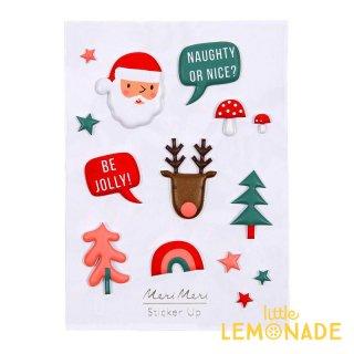 【MeriMeri】 クリスマスのぷっくりステッカー サンタ トナカイ ツリー シール  (45-3075/164179)