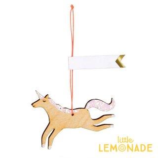 【Meri Meri メリメリ】 木製ユニコーンのギフトタグ 8個入り 【Wooden Unicorn Tag】(65-0210/180460)