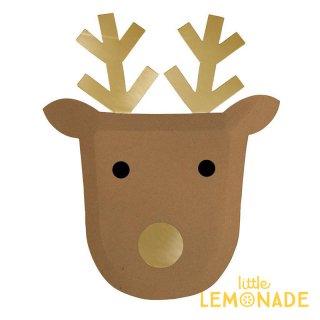 【Meri Meri メリメリ】 トナカイのお顔のペーパープレート 8枚入り  Reindeer Plate Large クリスマス 紙皿(45-3731/179137)