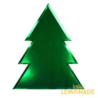 【Meri Meri メリメリ】ツリーの形のペーパープレート 8枚入り Foil Tree Plate Large クリスマス 紙皿(45-3759/179317)