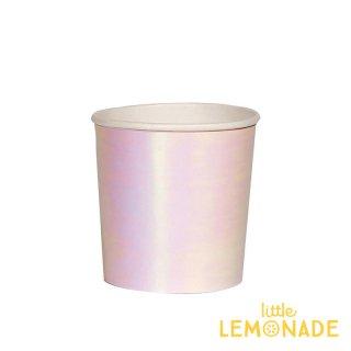 【Meri Meri メリメリ】イリディセント ペーパーカップ 8個入り スモールサイズ   Small Iridescent Cup  紙コップ (45-4103/181630)