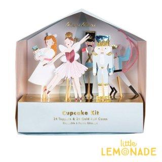 【Meri Meri 】くるみ割り人形のカップケーキキット 【ベーキングカップ フードピック セット】Nut Cracker  (45-3787/179470)