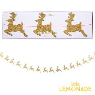 【Meri Meri】 トナカイ ゴールドグリッター ミニガーランド  【Gold Reindeer Garland】クリスマス(45-3719/179038)