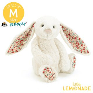 【Jellycat】  Blossom Cream Bunny Mサイズ バニー 花柄 真っ白 花 うさぎ ぬいぐるみ ジェリーキャット (BL3CBN)